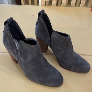 Vince Camuto Charcoal Grey Cut Out Booties